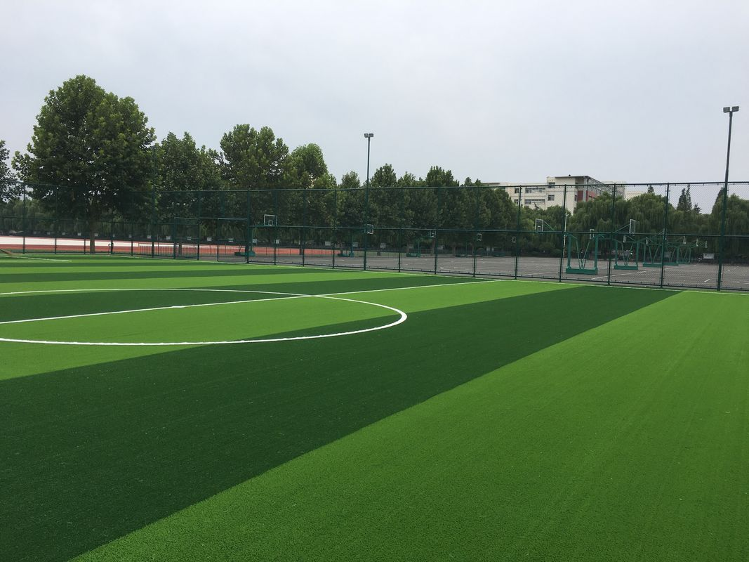 Eco Friendly  Natural Looking Artificial Grass Soccer Field Oem Service