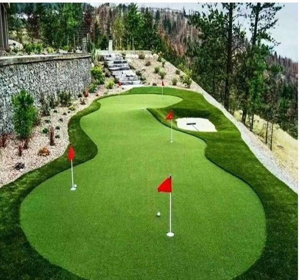 Soft Recycle Artificial Grass Golf Green Long Fake Grass For Outside