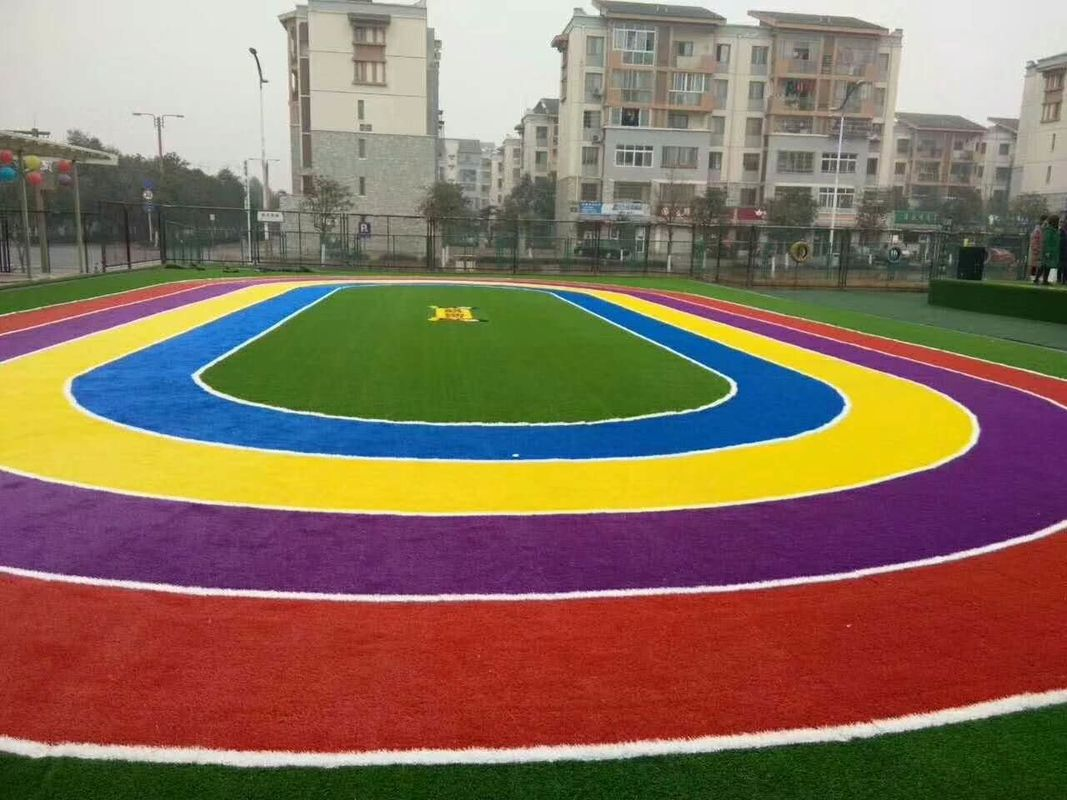 School Playground Custom Artificial Turf Wear Resistance Oem Design